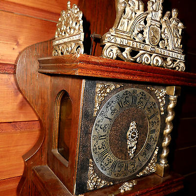 BIG Vintage Wall Clock DUTCH ZAANSE ZAANDAM stoelklok for REPAIR parts missing 6