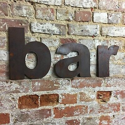 z LOWER CASE RUSTY METAL LETTERS SHOP HOME VINTAGE WORD RUSTIC INDUSTRIAL SIGN 6