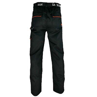 Arbeitshose Hose schwarz grau orange Bundhose Herren Profi Qualität Gr.46-60