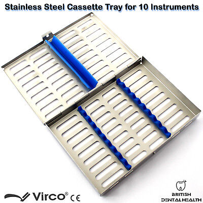 Stainless Tray Cassette for 10 Pcs Instruments Surgical Dental Implant Lab CE 2