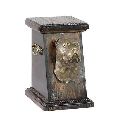 Cane Corso, dog urn made of cold cast bronze, ArtDog, UK - kind3 2