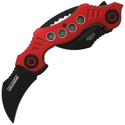 "10.25"" DUAL BLADE KARAMBIT SPRING ASSISTED TACTICAL FOLDING KNIFE Open Pocket"