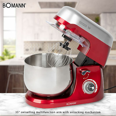 Robot cocina multifuncion batidora amasadora reposteria 5L 1000W Bomann KM 6009 6