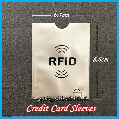 10x RFID Secure Sleeve Credit Card AntiScan Protect Case Shield Holder Travel 2