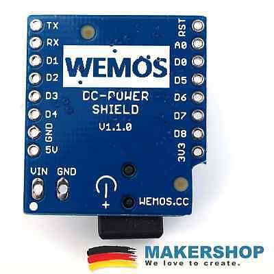 Original Wemos 7-24V 1A DC Power Shield V1.1.0 für Wemos D1 mini 3