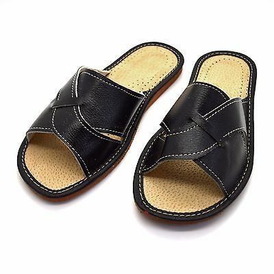 womens eco leather slippers slip on shoes 3 4 5 6 7