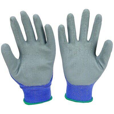 Arbeitshandschuhe Handschuhe Montagehandschuhe Latex Blau Grau Gr. 7-11 NEU TOP 3