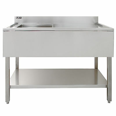 Science Lab Laboratory Sink Stainless Steel Single Bowl 1.0 Right Hand Drainer 3