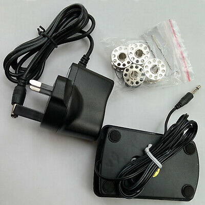 Portable Electric Sewing Machine Overlock 2 Speed LED Mains Powered Foot Pedal 9