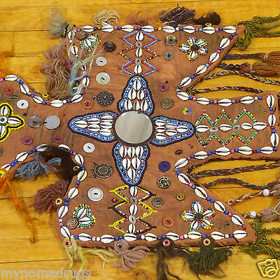Rare 1'4''x3'3'' Antique 1900-1930s Tribal Ceremonial Wall Hanging Turkey 5