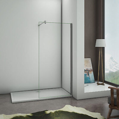 Aica Wet Room Shower Screen Enclosure /& Tray Walk In 8mm NANO Glass Cubicle