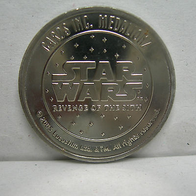 ROTS Star Wars MEDALIONZ Silver or Gold COLORED COINS Your CHOICE
