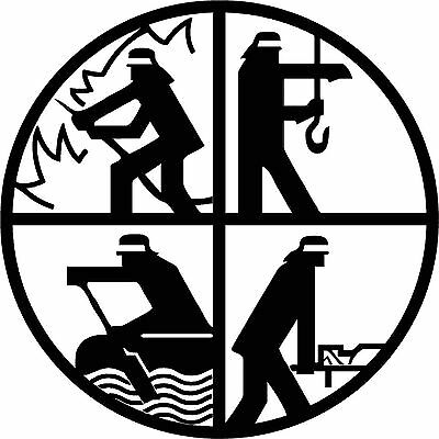 Feuerwehr STAHL-WAPPEN, Helm, Innungsschild, Zunft, Emblem, Schmuck 4