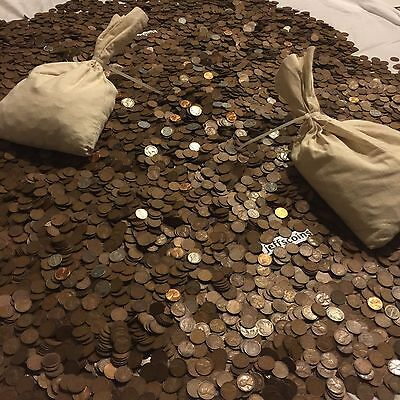✯1Lb Pound Unsearched Wheat Cents Lincoln Pennies✯Estate Sale Coins Lot✯1909-58✯ 11