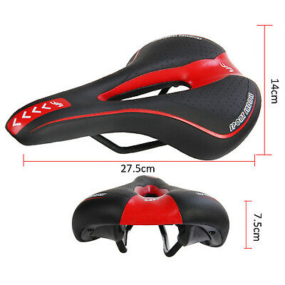 Bicycle Bike Cycle MTB Saddle Road Mountain Sports Soft Cushion Gel Pad Seat Red 11