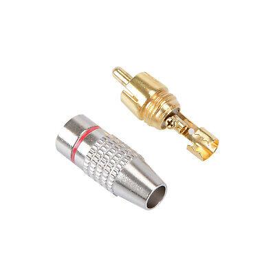10 Pz Connettore RCA Maschio Jack Spina Saldare Audio Vedio Molla Saldatura Oro 3