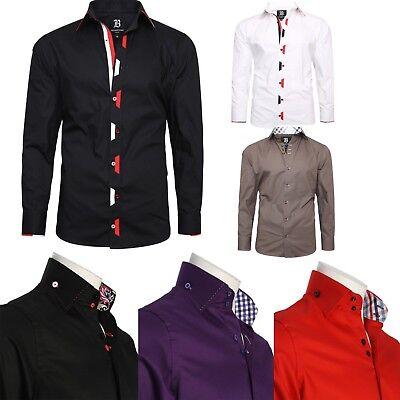 Men's Formal Shirt Men Printed Collar Italian Dress Designer Suiting Shirts 2