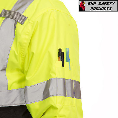 Hi-Vis Insulated Safety Bomber Reflective Jacket ROAD WORK HIGH VISIBILITY 4