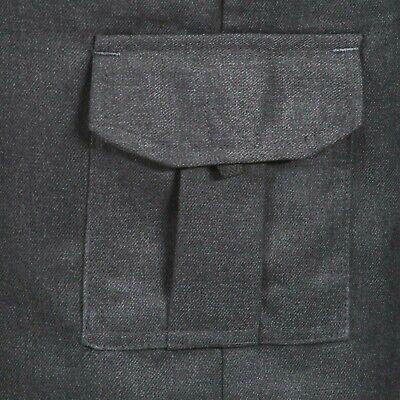 Boys School Cargo Shorts Grey Black Ages 2-16 Years Elastic Waist 4