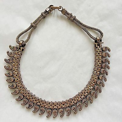 Antique coin silver necklace choker rajasthan india tribal paisley 5 of 7 antique coin silver necklace choker rajasthan india tribal paisley mango pendant aloadofball Gallery
