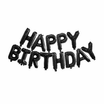 Happy Birthday Balloon Banner Bunting Self Inflating Letters Foil Balloons Party 3