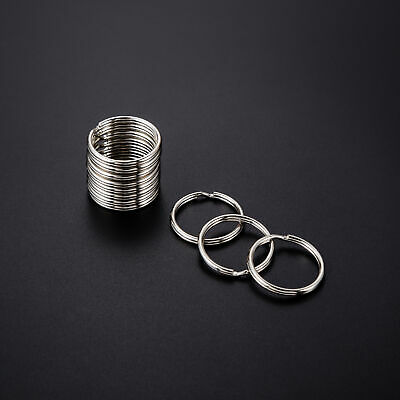 Wholesale 4~35mm Key Rings Chains Split Ring Hoop Metal Loop Accessory Keyring 10