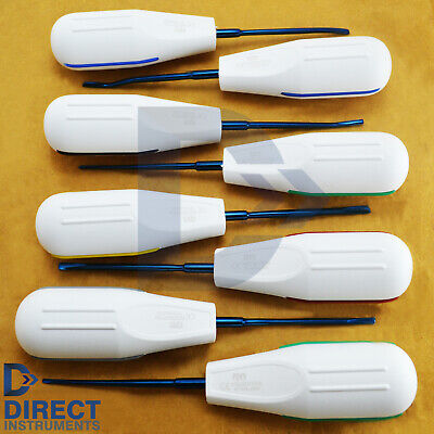 8Pcs Set Titanium Blue Coded Dental Luxating Elevators Tooth Extraction Surgery 2