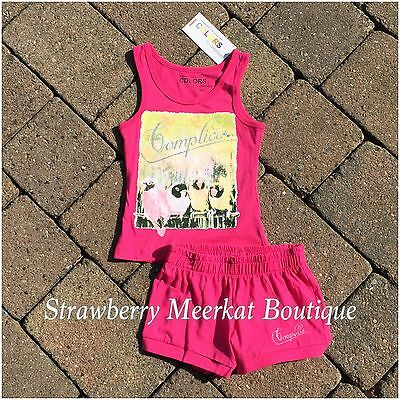 New Girls French Designer Complices Tank Outfit Vest Top Shorts Age 2 3 4 5 6 8 3