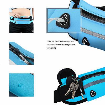 Running Belt Unisex Sport Jogging Phone Keys Mobile Money Bum Bag Waist Travel 9