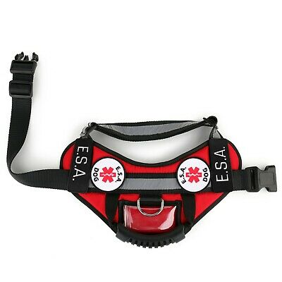ESA Emotional Support Animal Vest Support Dog Harness - No Pull Handle ID Pocket 3