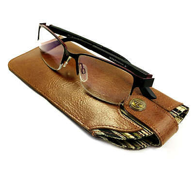Alston Craig Personalised Vintage leather case for Glasses / Sunglasses - Brown 3