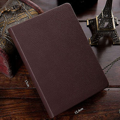 Top Quality Blank Diaries Journals Notebook Note Book Vintage PU Leather Cover 12