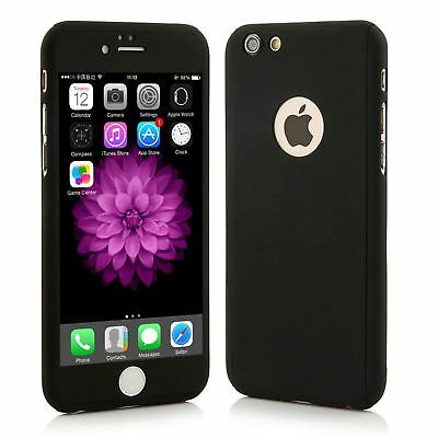Hybrid 360° Shockproof Case Tempered Glass Cover For Apple iPhone 10 X 8 7 6s 5 4