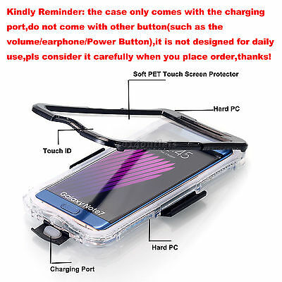 for Samsung Galaxy S7 Edge/ S8+ Shockproof Waterproof Dirt Proof Case Full Cover