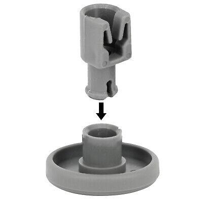 2 x INDESIT Genuine Dishwasher Wheel Runner Axle Pin Upper Basket Roller