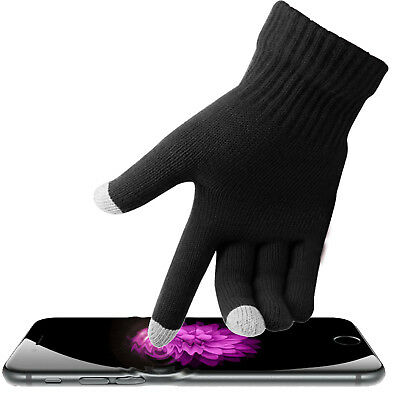 Mens Thermal Thinsulate Knitted Full Finger Gloves Winter Warm Cold Woolly Mitts 3