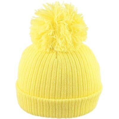 Baby Pom Pom Hat Bobble Beanie Double Knitted Boy Girl Infant Newborn-12 Months 7