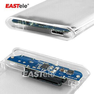 "USB 3.0 Transparent 2.5"" SATA 3.0 5Gbps SSD HDD Hard Disk Drive Enclosure Case 7"