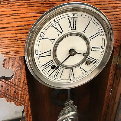 Superb Antique late Victorian American   Mantle  clock, working 3