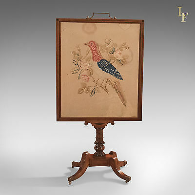 Antique Tapestry Display Stand, Regency Mahogany Needlepoint English circa 1830 5