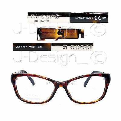 3c8e0930a6d 1 of 12FREE Shipping GUCCI GG 3673 WR9 Havana 53 15 130 Eyeglasses Rx Made  in Italy -
