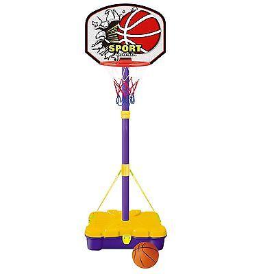 Free Standing Basketball Set Hoop Net Backboard Carry Case 161cm Childrens Kid 2