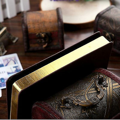 Top Quality Blank Diaries Journals Notebook Note Book Vintage PU Leather Cover 10