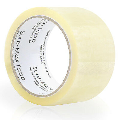 "18 Rolls Carton Sealing Clear Packing Tape Box Shipping - 2 mil 2"" x 55 Yards 2"