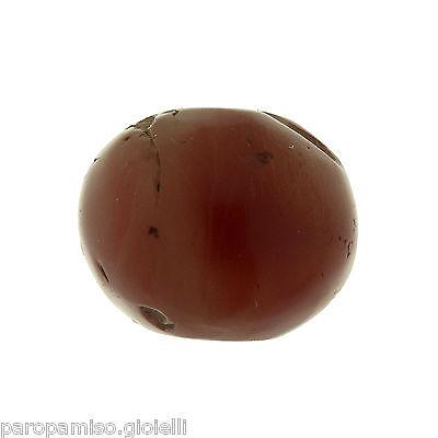 Rare Round Buddhist  Pema Raka (Nan Hong) Bead,China-Tibet.古色古香的圆形玛瑙石 (0694)) 4