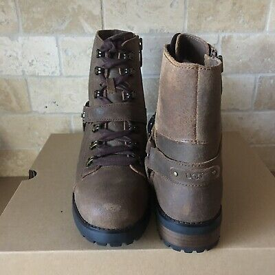 25da4eaaf3e UGG FRITZI LACE-UP Chipmunk Water-resistant Leather Combat Boots Size 11  Womens
