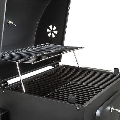 BBQ Griglia a carbonella barbecue giardino legna affumicatoio 115x65x107 7