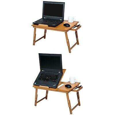 Table de lit pliable pour PC portable notebook tablet bambou + USB ventilateur 6