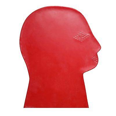 Perforierte Latex Maske aus Rubber in rot, Einheitsgröße 7
