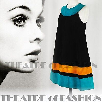 DRESS 60s SUEDE LEATHER VINTAGE OUTSTANDING ART ICONIC RARE LIKE COURRÈGES GOGO 3